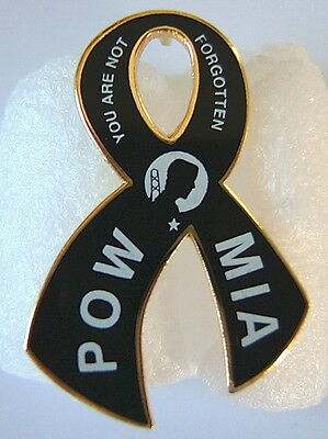 "Hat Pin  ""POW/MIA-YOU ARE NOT FORGOTTEN""  RIBBON PIN,  Brass Hat Pin,  # 14461"