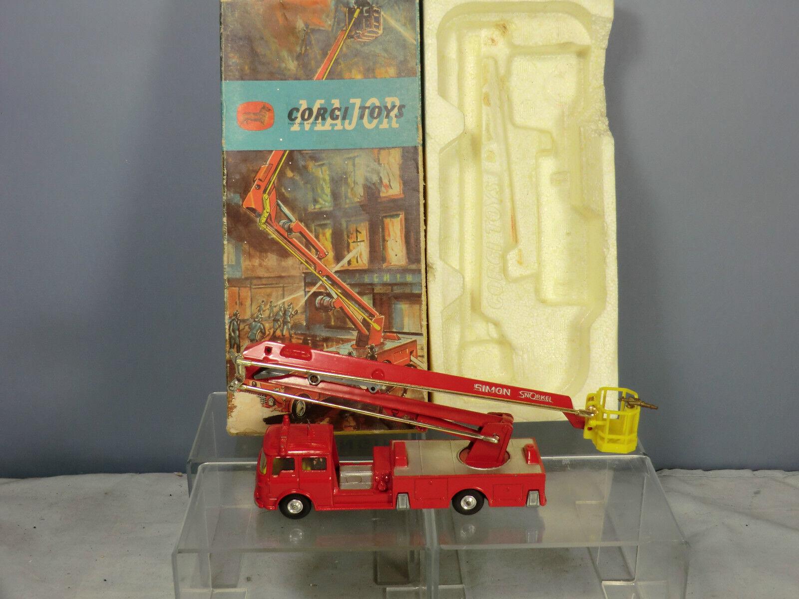 CORGI MAJOR MODEL No.1127 SIMON SNORKEL FIRE ENGINE VN  MIB