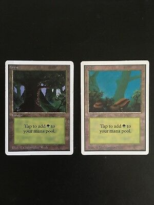 2x Forest Basic Land Mirage Ed MTG Magic The Gathering LP//MP Cond English