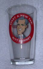 2012 MITT ROMNEY Flying Saucer Pint Beer Glass~Start a New Tab~Get Off Your~Vote