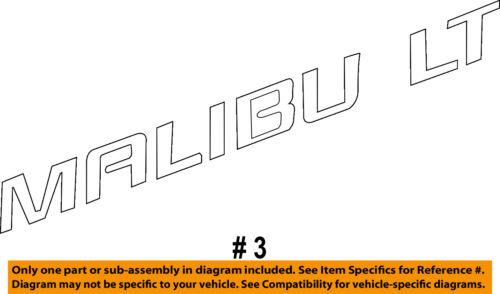 Chevrolet GM OEM 10-16 Malibu Trunk Lid-Emblem Badge Nameplate 22842006
