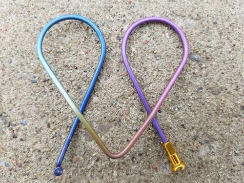 Titanium Bicycle Spoke Money Clip Card Holder Tie Dyed Bike Spoke Cycling BMX