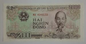 Image Is Loading Viet Nam Unc Banknote 2000 Vnd Hai Nghin