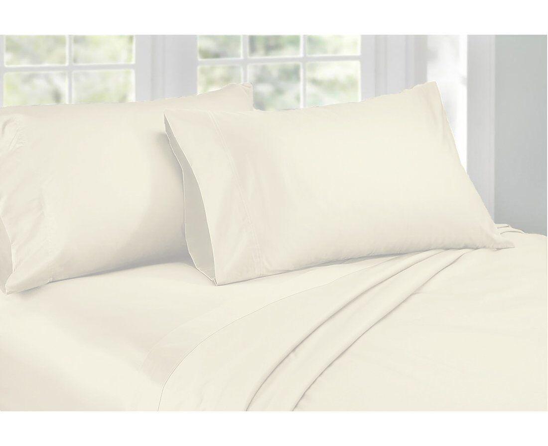 Ardor 1000TC Cotton Rich Sheet Set King & Queen Bed Ivory