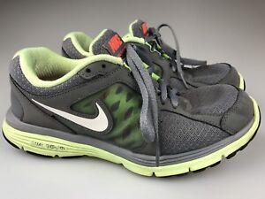Nike Dual Fusion Run 2012 Women's Gray/Volt Yellow Running Shoes Size 7.5 525752