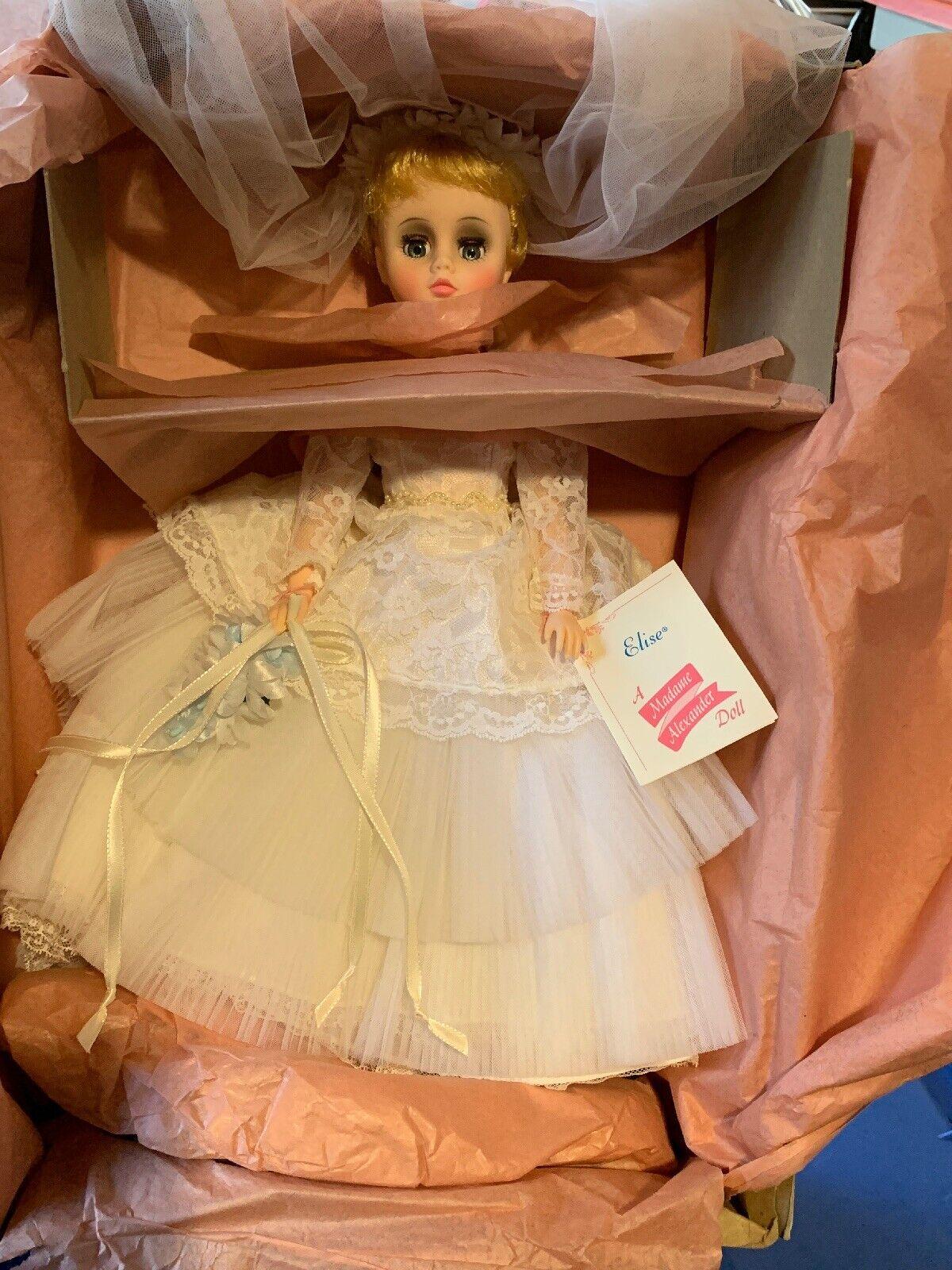 Madame Alexander Jahr Elise Bride Doll Weiß Wedding Dress + Bouquet W Box