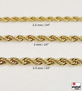 Men s Women s 14K Gold Plated Bling Rope Chain Necklace for Micro ... 4c852500c8