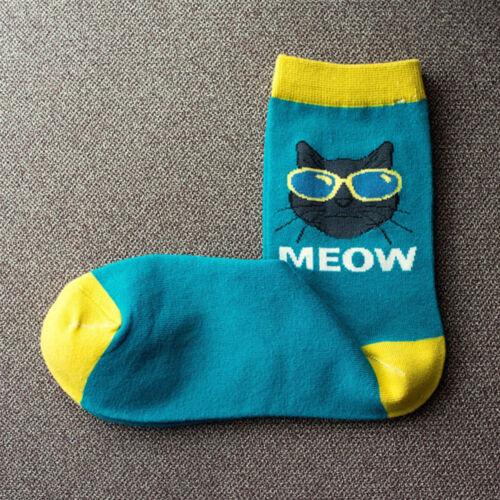 Cotton Socks Men Sunglasses Cat Socks Comfortable Breathable Cartoon Socks