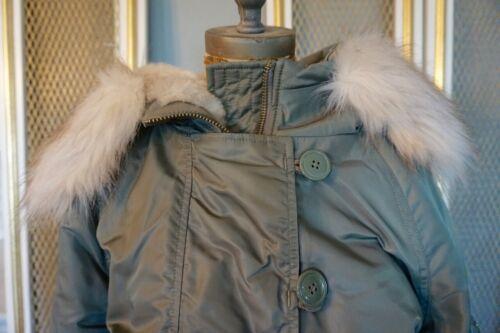Utility 12 Storbritannien Topshop Størrelse Grøn Med Us Fur Jacket Hoodie 8 H41wvxdqz4