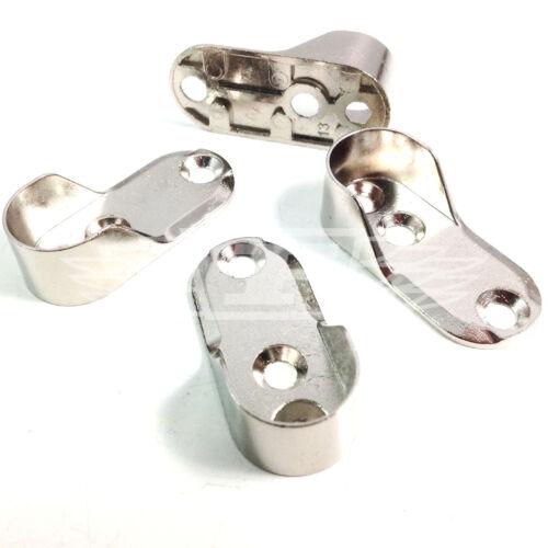 Armario Oval barra de colgar soportes soporte integral Níquel//Latón Varilla Tacos extremos