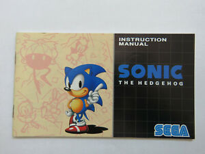 Ensoleillé Officiel Sonic The Hedgehog Manuel D'instruction-sega Mega Drive (pal) Ln-afficher Le Titre D'origine