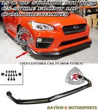 CS-Style Front Lip (Urethane) Fits 15-17 Subaru WRX STi