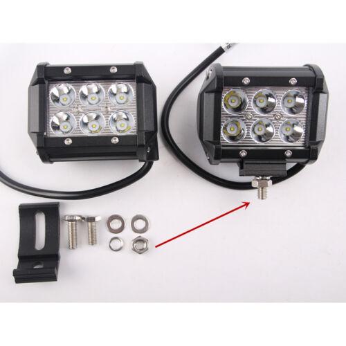 32Inch 180W Spot Flood LED Light Bar+4X 4/'/' 18W CREE Work Lamp Truck Offroad OFF