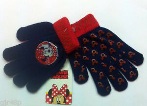 Kids Boys Mickey Mouse Mittens Gloves Hand Warmers One Size 1-5 Years 800-400