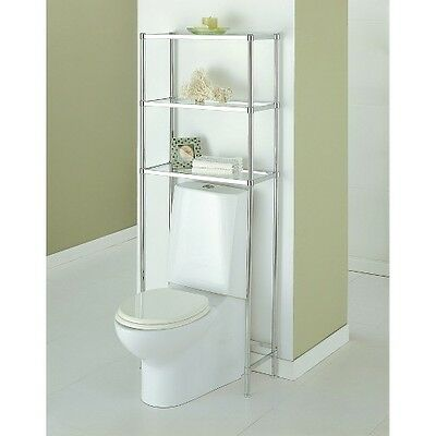 Neu Home Bathroom Spacesaver 3-Tier Shelf Unit - Chrome