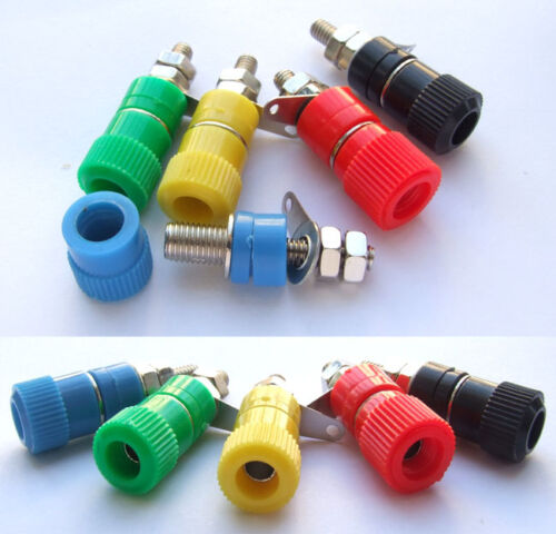20PCS colors 4mm Binding Post for Speaker Cables Banana plug Power Test Probes