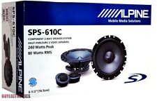 "Alpine SPS-610C 6-1/2"" Component Car Speakers/ 6.5"" Car Audio Type S Series"