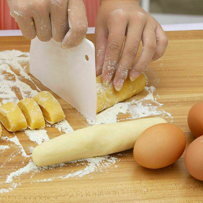 Plastic Scraper dDough Bread Cake Flour Decor White H9Y5 Baking Pastry C1Y7