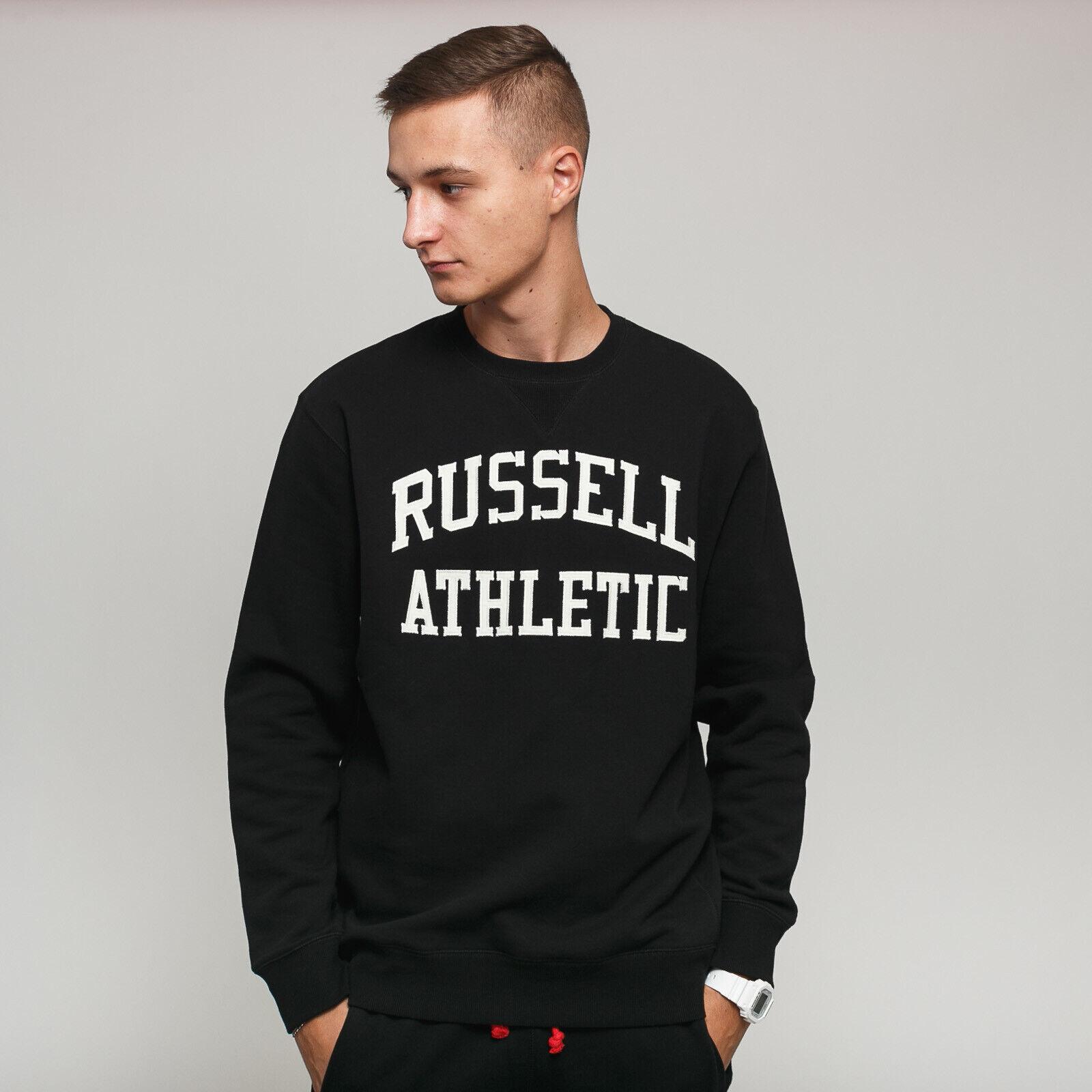 RUSSELL ATHLETIC Crewneck schweißhemd schwarz M, Schwarz, A9-086-2 099-IO