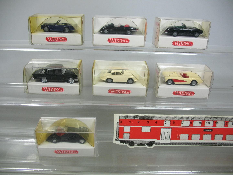 AF83-0,5 x Wiking H0 Autovettura  834 Mercedes + 828 BMW +817 Jaguar+819 Ecc.