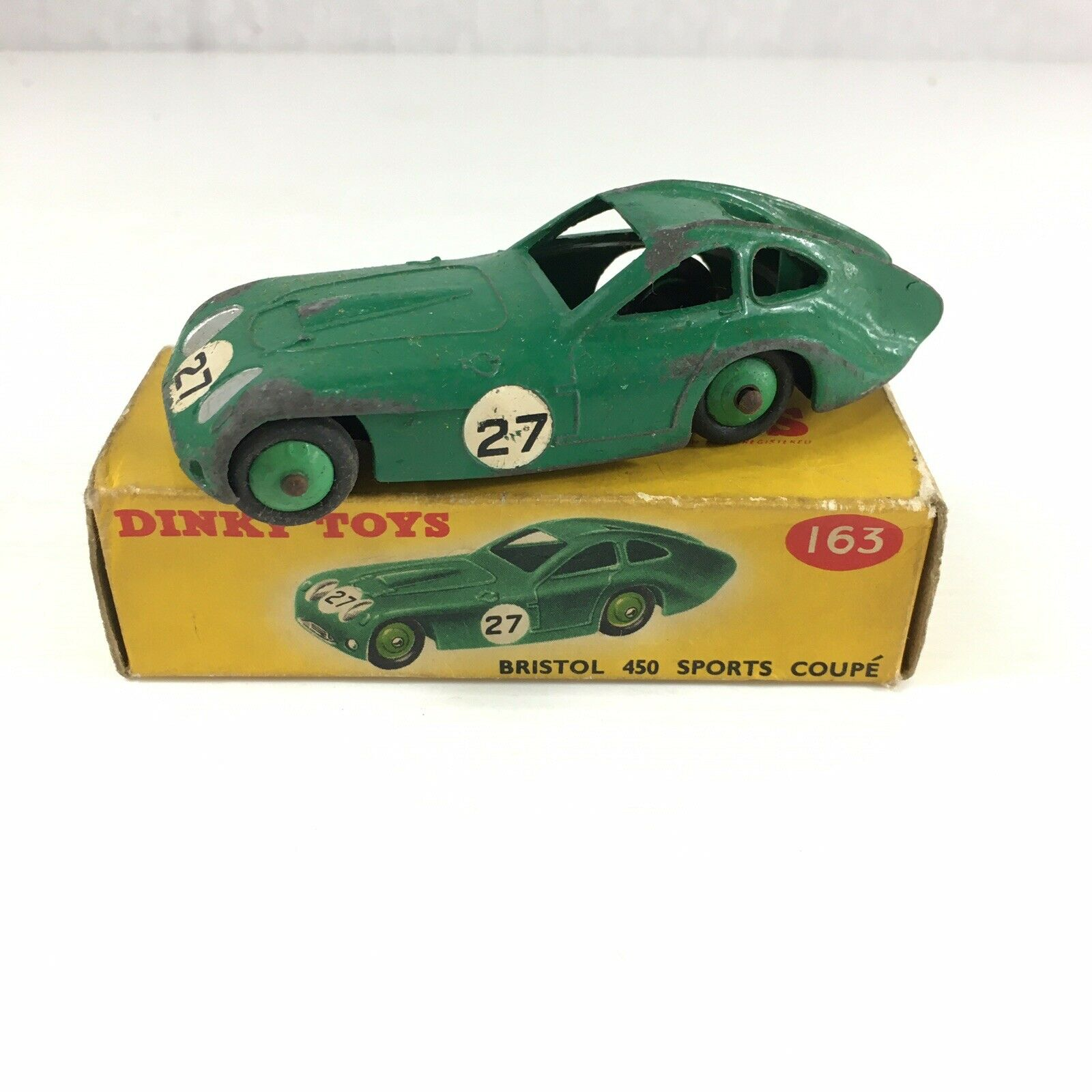 Vintage Boxed Dinky Toys 163 Bristol 450 Sports Coupe 9.5cm In Length