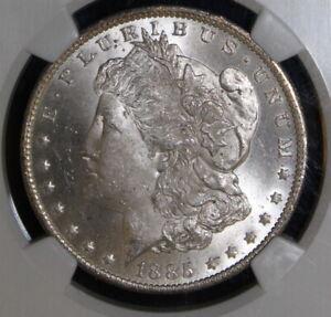 1885 O MORGAN DOLLAR NGC MS 63 CHOICE BU FROSTY WHITE OR NEAR WHITE *ONE COIN*