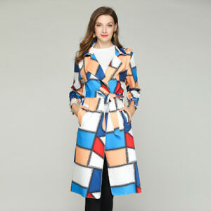 buy popular 4fc00 57f7c Dettagli su Giacca donna cappotto spolverino comodo elegante colorato  bianco cintura 4839