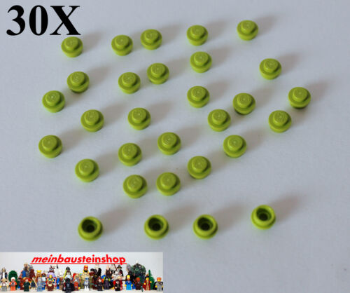 4073 Basic Runde Platten 1X1 Round Plate Hellgrün Lime 30X Lego® 6141