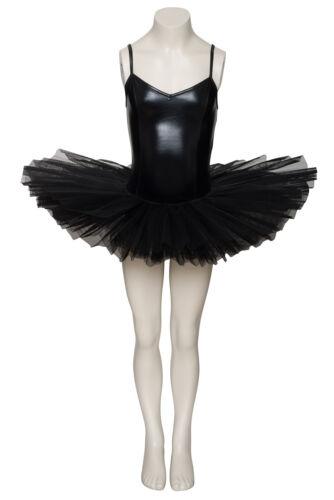Black Shiny Metallic Dance Ballet Leotard Tutu Childs And Ladies Sizes By Katz