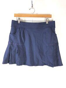 Athleta-Women-039-s-Size-Large-Navy-Blue-Any-Sport-Pleated-Skort-Skirt-Modest-GUC