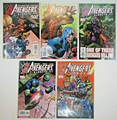 5 Issues Avengers Disassembled 500 501 502 503 /& Finale Ant-Man Hawkeye Chaos