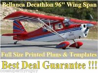Decathlon 96 Giant Scale Rc Airplane Full Size Printed Plans & Templates
