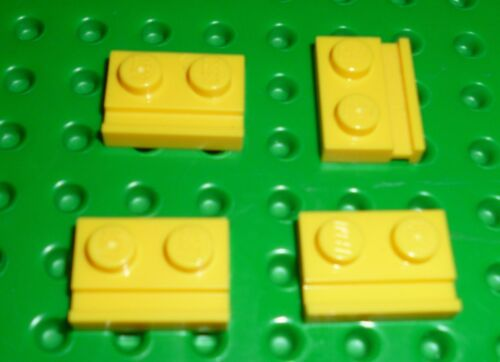 32028 Modified 1 x 2 with Rail YELLOW x 8 PLATE LEGO PM137