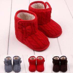 Petit-Enfant-Bebe-Filles-En-Laine-Chaussures-Neige-Bottes-Doux-Hiver-Chaud
