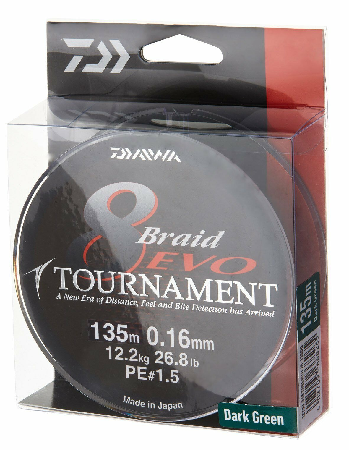 Daiwa Tournament 8 Braid EVO 300m dunkelgreen - geflochtene Angelschnur