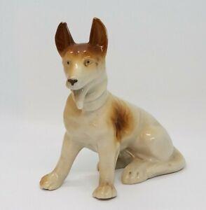 Vintage-1950-039-s-Japan-German-Shepard-Dog-Glazed-Figurine