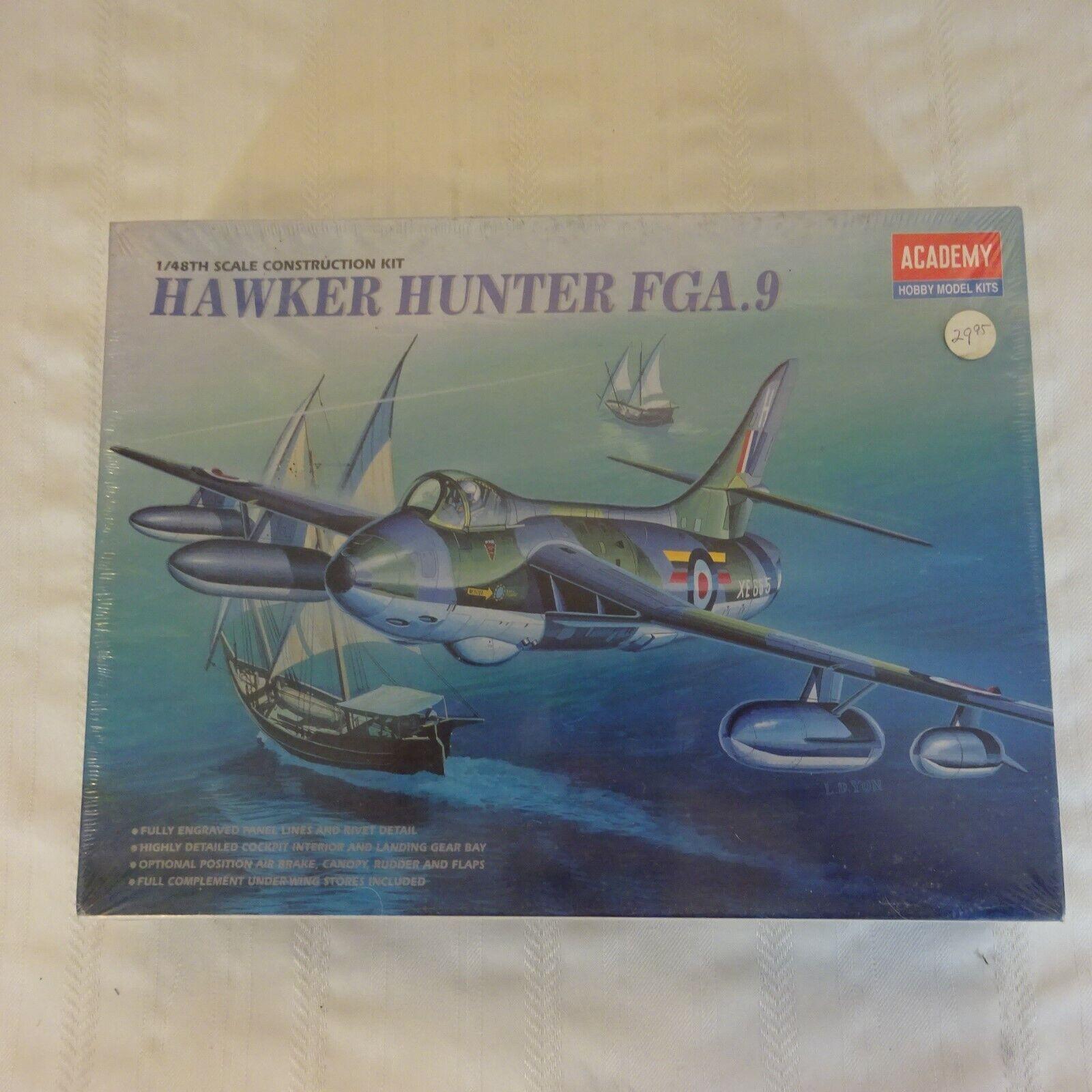 1 48 ACADEMY HAWKER HUNTER FGA.9 MODEL KIT FACTORY SEALED