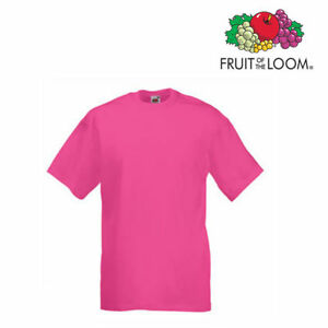Fuchsia The Manches T Couleur Courtes Fruit Of Loom Homme 10 Lot shirts De qpxB7Xwz