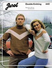 Sweater size 81 to 107 cm 32 to 42 inch Jarol 440 Vintage Knitting Pattern