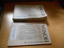 98 1998 Honda Accord Sedan owners manual