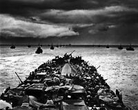 8x10 World War Ii Photo: Lcis En Route For Invasion Of Cape Sansapor, 1944