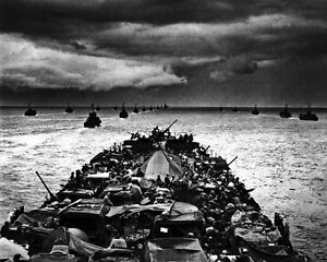New-8x10-World-War-II-Photo-LCIs-En-Route-for-Invasion-of-Cape-Sansapor-1944