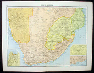 1890-Bartholomew-Large-Antique-Map-of-Southern-Africa