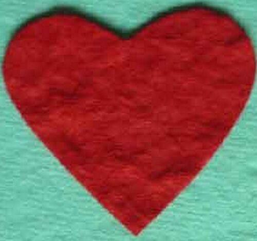 PK50 4.5CM rouge coeurs embellissements pour cartes et artisanat