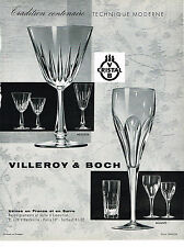 PUBLICITE ADVERTISING 054  1960  VILLEROY & BOCH cristal  service MESSINA MILANO