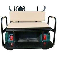 Rear Flip Seat Kit W/ Cushion For Ezgo Rxv (stone)