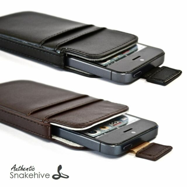 SNAKEHIVE® Leather Pouch Case Cover (Range of Models)