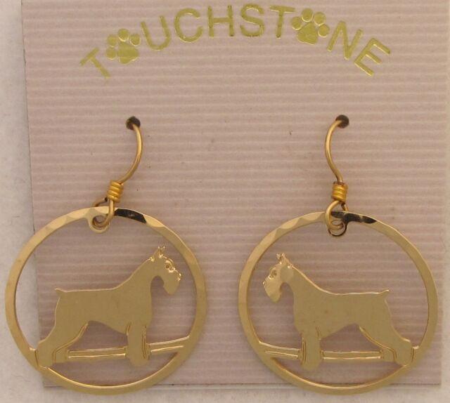 Schnauzer Jewelry Small Gold  Pin by Touchstone