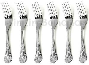 KINGS-PATTERN-DESSERT-FORKS-QUALITY-SET-OF-6-DESIGN-HANDLE-SMALLER-CUTLERY-01A