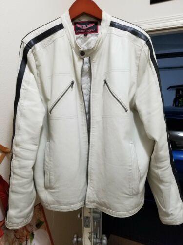 White Leather Jacket (XL)